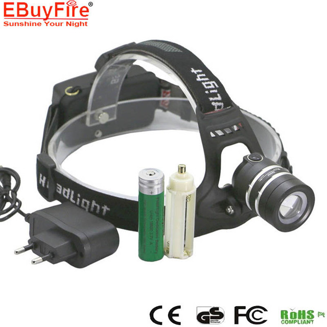 LED HeadLight Light T6 18650 Rechargeable Lamp Zoomable Zoom Head Lamps by 3x AAA battery 18650 torch light lamp