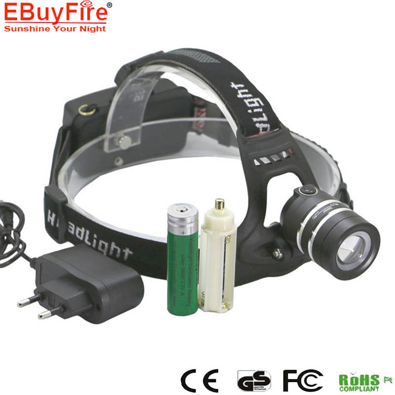 T6 18650 HeadLight Light LED Rechargeable Lamp Zoomable ...