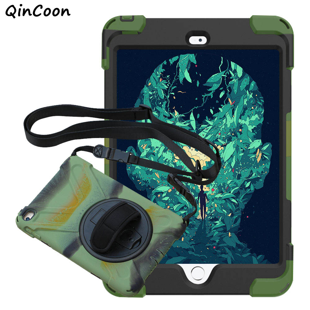 Pirate Case for iPad mini 4 Kids Safe Shockproof Tablet Case PC + Silicone Stand Cover w/Wrist + Shoulder Strap Funda Coque Capa