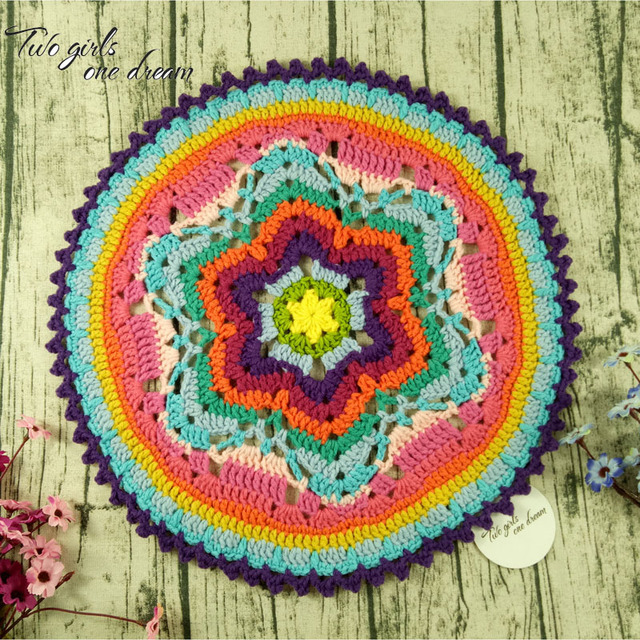 Original 40cm Handmade Crochet Seat Cushion Diy Coaster Doilies