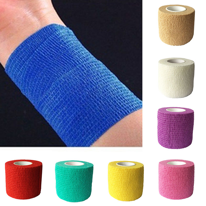 4.5cmX5m Elastic Adhesive Muscle Tape Running Sports Bandage Care Athletic Physio Therapeutic Brace Support 2.5cmX5m Women Men