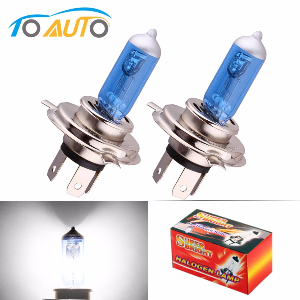 2pcs 24V H4 100W Super Bright Fog Lights Halogen Bulb High Power Headlight Lamp Car Light Source Parking Head White 100/90W