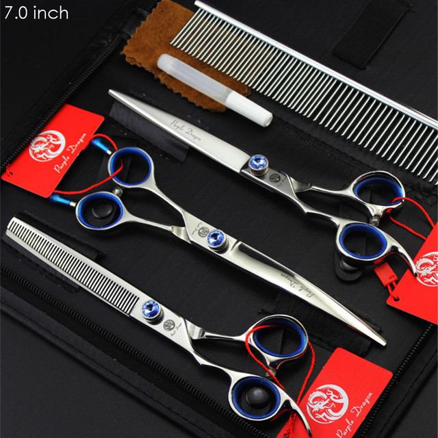 7 8 inch Professional Pet Scissors Set Left-Handed JP440C Hair Cutting Thinning Curved Shears Left Hand Dog Grooming Scissors 2