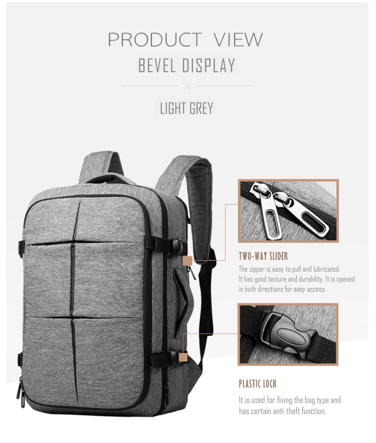 Cai bande valise Design étanche sac à dos pour ordinateur portable femmes multifonctionnel grande capacité sac à dos hommes d'affaires sacs de voyage-in Sacs à dos from Baggages et sacs    3