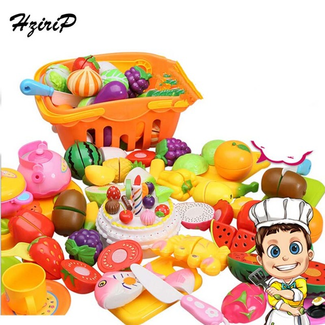 14 unids/set Fruta de la Cocina de Corte de Verduras De Plástico Niños Juegos de Imaginación Juguetes Educativos Bebé Juguetes de Simulación de Cocina Vajilla