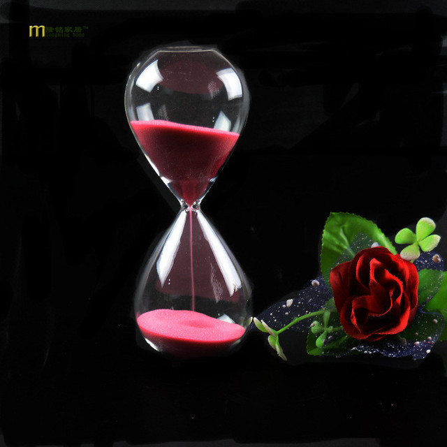 1PC Fashion Style Glass 5 minutes Sandglass Time Counter Count Down Timer Hourglass Clock Home Decor 11 Colors JY 1189-2
