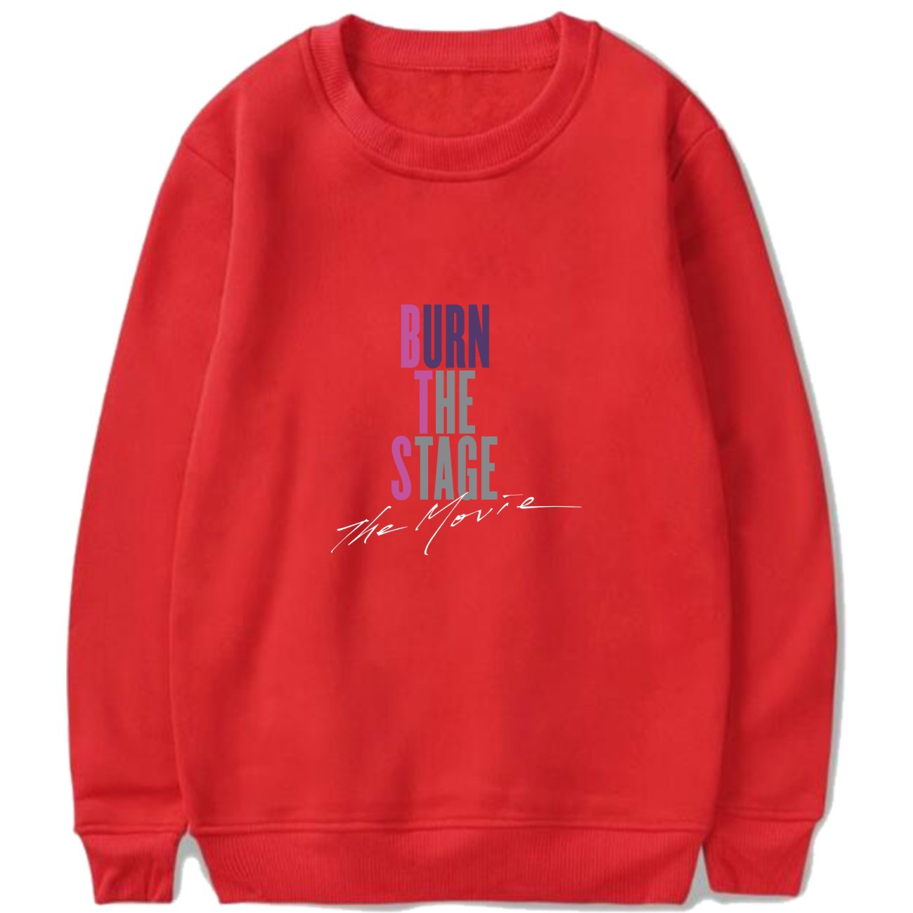 Drop Ship 2018 Autumn Winter BTS Kpop Hoodies Sweatshirts Letters Printed Clothes BURN THE STAGE THE MOVIE Pullover Tops Moletom 2