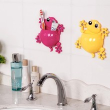 BF040 Lovely creative gecko toothbrush rack Combined suit receive sucker aircraft toothpaste 14.5*13.5cm free shipping