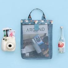 Swimming Storage bag Beach swimsuit mesh storage swimming Leaking water wash sports handbag trumpet32