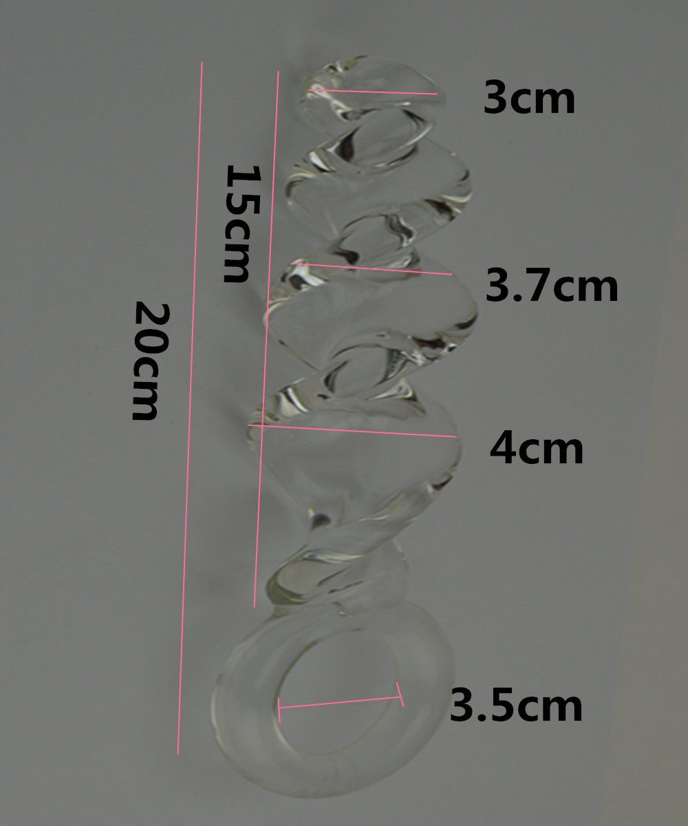 20*4 CM Big Glass Penis Dildos Anus Butt Plug In Adult Games For Female ,  Erotic Anal Stimulator Sex Toys For Women And Men new big fake dildos large anal butt plug convex design artificial penis vagina stimulate erotic sex toys anus massage for women