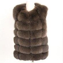 Maomaokong Echte Vos Bontjas Vrouwen Winter Natuurlijke Bont Vest Jas Natuurlijke Echt Bont Jas Vesten Voor Vrouwen Mouwloze Jas vrouwen