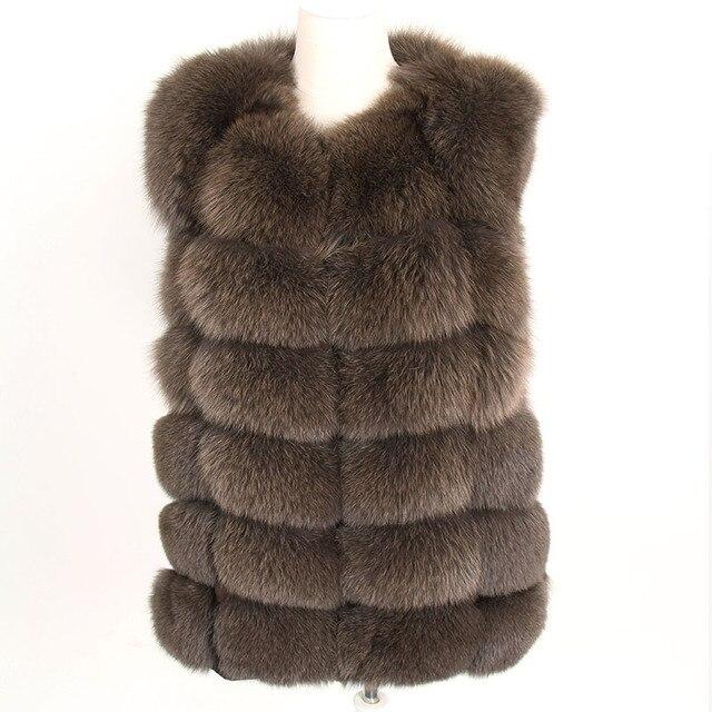 maomaokong real fox fur coat women winter natural fur vest coat natural real fur coat Vests for women   Sleeveless jacket women