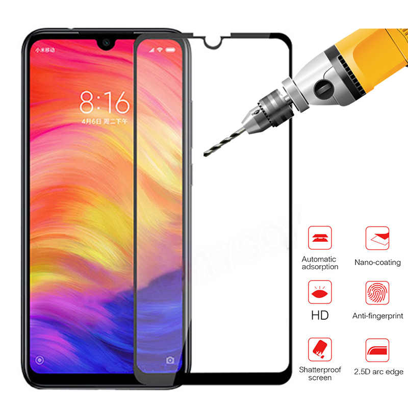 For Xiaomi redmi note 7 Full Cover Protective Glass case Screen Protector Tempered Glass On xiomi xaomi xiami note 7 6.3 inch 9H