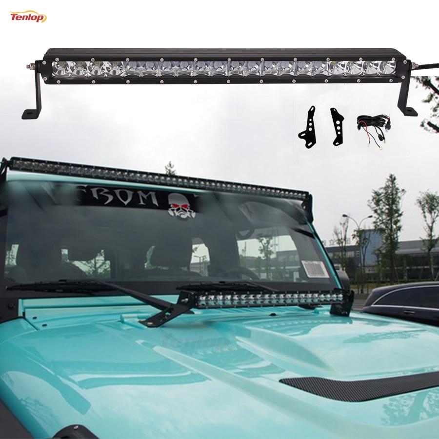 23 Inch 100W Light Bar + 2PCS Engine Hood Bracket + 1PCS Wire Harness For  Offroad Wrangler JK 07 16 Engine Hood Light-in Light Bar/Work Light from ...