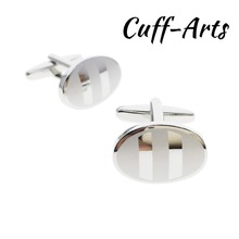 Cufflinks For Mens Oval Stripe Gift Men Designer Jewelry Luxury Gifts by Cuffarts C20158