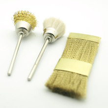KIMAXCOLA 3Pcs per set Nail Drill Bit Cleaning Copper Wire Brush for Electric Manicure Clean Accessories Tool