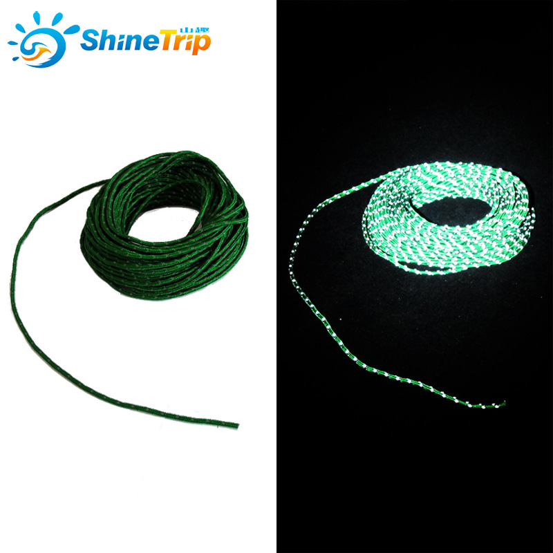 121504 Tent Rope Reflective Nylon Cord 50 Feet High Strength For Camping 2.5mm 10pcs/lot oumily reflective multi purpose paracord nylon rope cord reflective grey 30m 140kg