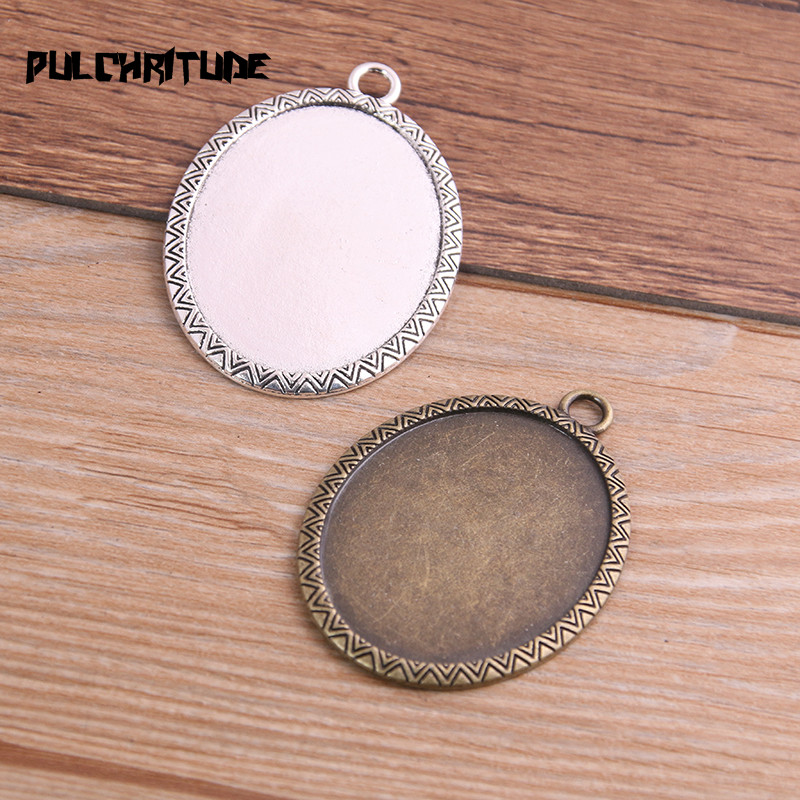 Jewelry Findings & Components Jewelry & Accessories Original Pulchritude New Fashion 2pcs/lot 30x40mm Inner Size Brozne/silver Classic Style Cabochon Base Setting Charms Pendant T6755 To Rank First Among Similar Products