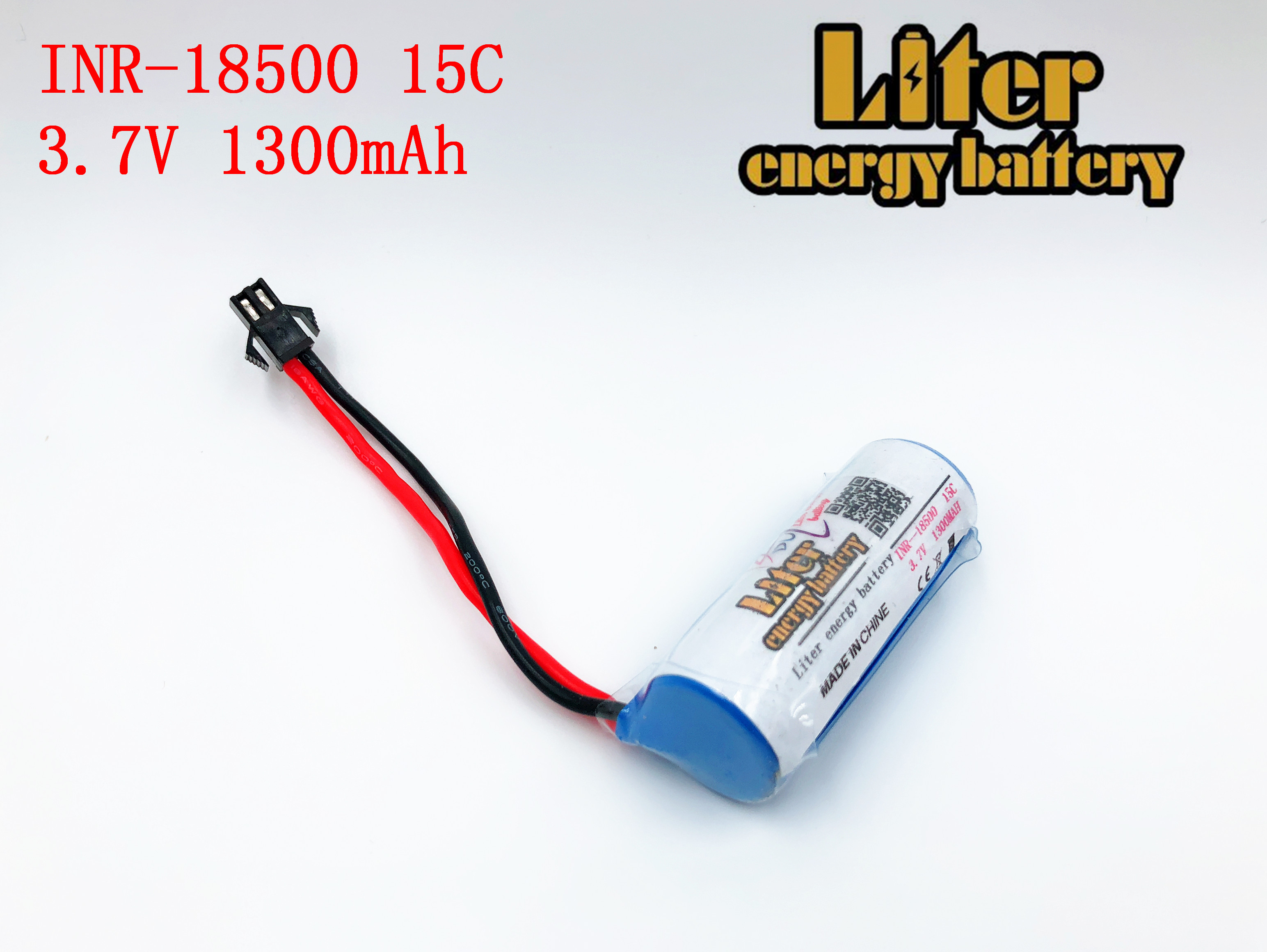 <font><b>3.7V</b></font> 1300mAh 15c Lipo <font><b>Battery</b></font> For S900 FT008 Remote control helicopter/Boat 3.7 v <font><b>18500</b></font> <font><b>Li</b></font>-po <font><b>batteries</b></font> for Toy <font><b>Battery</b></font> SM Plug image