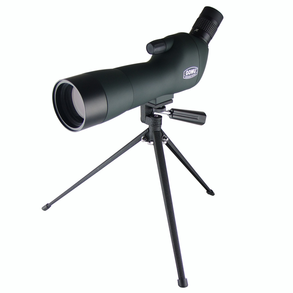 20-60X60 Zoom HD Adjustable Monocular Telescope Spotting Scopes with Portable Tripod Telescopio for Hunting Traveling Green SP03 dural use adapter for universal for spotting scopes