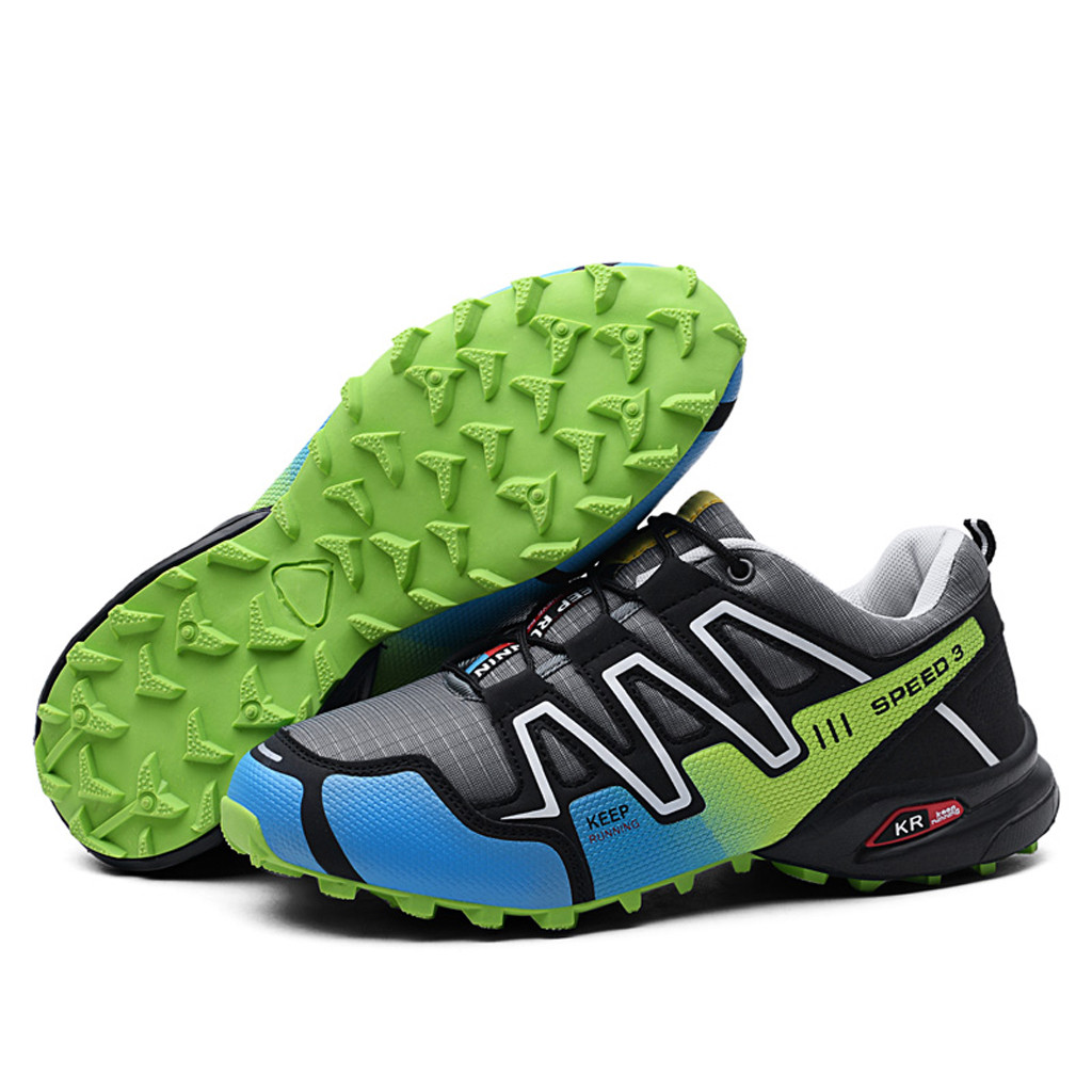 f1a68bff09 CHAMSGENDmen's large size mesh comfortable breathable sports shoes ultra  light non-slip casual lightweight fashion