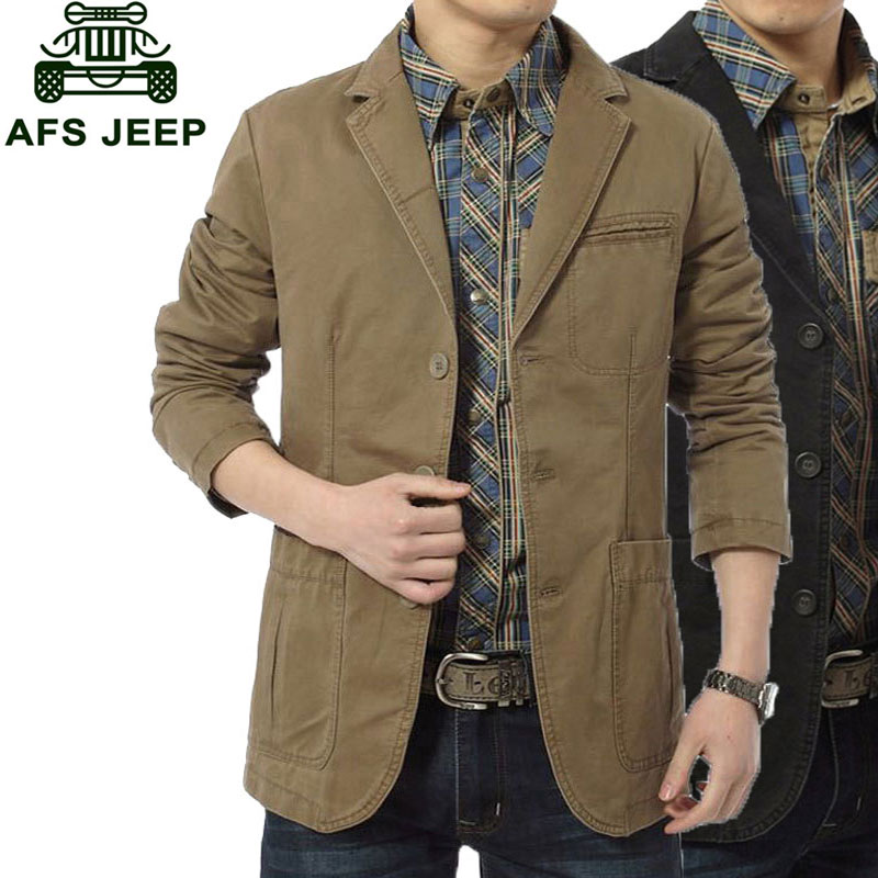 2017 New Arrival Brand Clothing Men Jackets Beige Color M~4XL Overcoat Slim Fit Casual Blazer Jacket Coats CLOTHES Long Sleeve