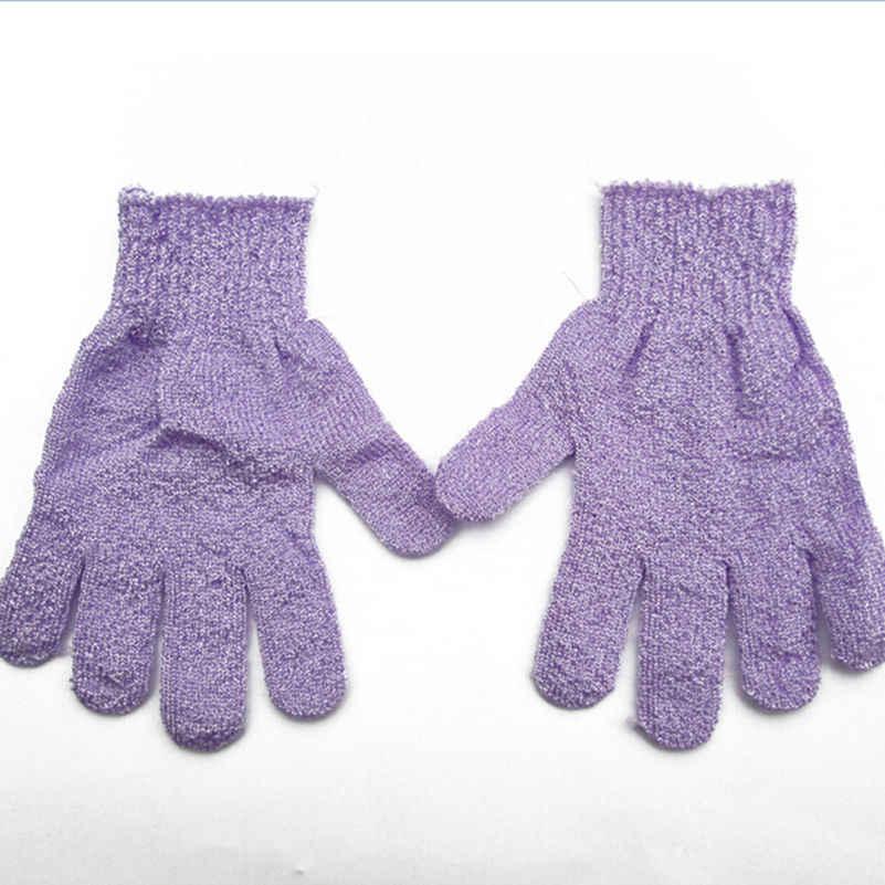1 Pc Dusche Bad Handschuhe Peeling Waschen Haut Spa Massage Peeling Körper Wäscher Handschuh 4 Farben (Gelegentliche Farbe)