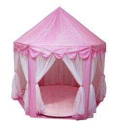 Jogar tenda jogar casa bola pit piscina portátil dobrável princesa dobrável tenda castelo presentes brinquedos tendas para crianças menina do bebê
