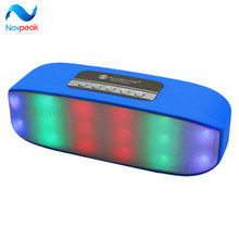 1 pc Fashion Portable Mini LED Bluetooth Speakers Wireless Small Music Audio TF USB Light Stereo Sound Speaker