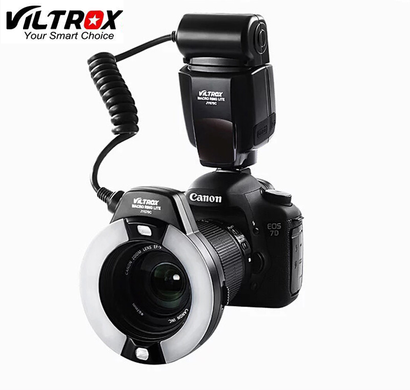 Viltrox JY-670C Camera Macro Close-Up TTL Ring Flash Speedlite for Canon 750D 650D 600D 550D 60D 700D 70D 7D 5D II III