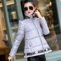 Maternidad 2016 vestido de invierno nueva moda Coreana capa tipo dosel carpa sección corta de las mujeres embarazadas chaqueta acolchada abajo