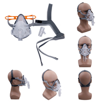 1 Set Full Face Mask For CPAP Respirator Snoring Therapy Interface With Free Headgear Size S M L
