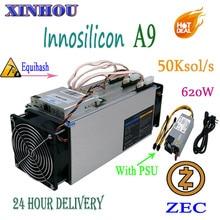 Используется Asic Miner Innosilicon A9 ZMaster 50 k sol/s с 750 w PSU Equihash Zcash ZEC ZCL BTG горнодобывающее устройство лучше чем Antminer Z9 Z9 mini