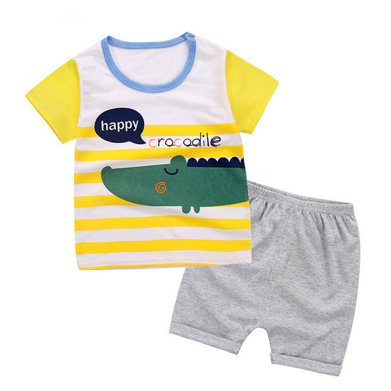 BibiCola children boys clothes sets infant bebe short sleeve T-shirt shorts 2 pcs baby boy clothes summer sports suits 1-4 year
