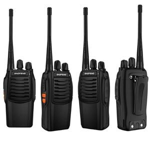 Image 2 - Baofeng Walkie Talkie 100%, Radio bidireccional de 16 canales, Woki Toki UHF, Radio Ham portátil, transceptor PMR Con linterna de 5W, Original de BF C1