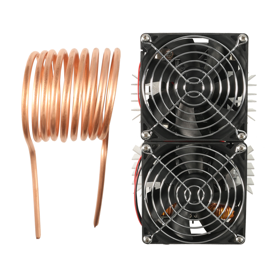 1800W ZVS Induction Heater Induction Heating Machine PCB Board Module Flyback Driver Heater Cooling Fan Interface+ Coil