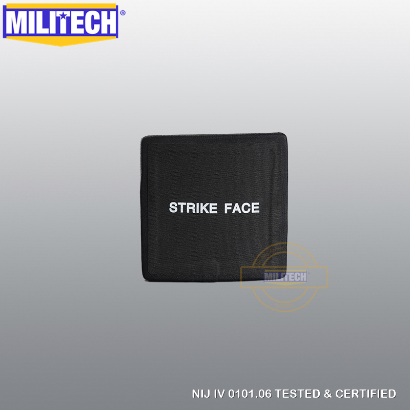 MILITECH 6'' X 6'' NIJ Level IV Stand Alone Bulletproof Side SAPI Plate Al2o3 + PE NIJ IV Stand Alone Ballistic Side ESAPI Panel