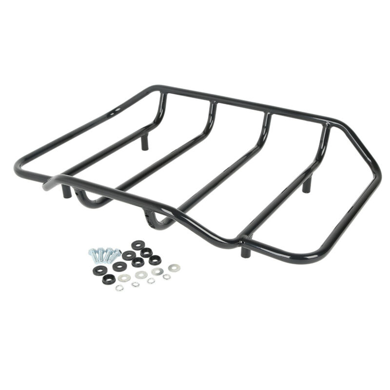 Motorcycle Moto Razor Tour Pak Pack Trunk Top Rack Backrest For Harley Touring Road King Street Electra Glide 97 13 in Motorcycle Trunk from Automobiles Motorcycles
