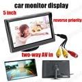 HD цифровой TFT ЖК-Экран 5 Дюймов LCD Автомобиля Цветной Монитор Резервного Копирования Камера заднего вида DVD обратный приоритет двусторонней А. В. в