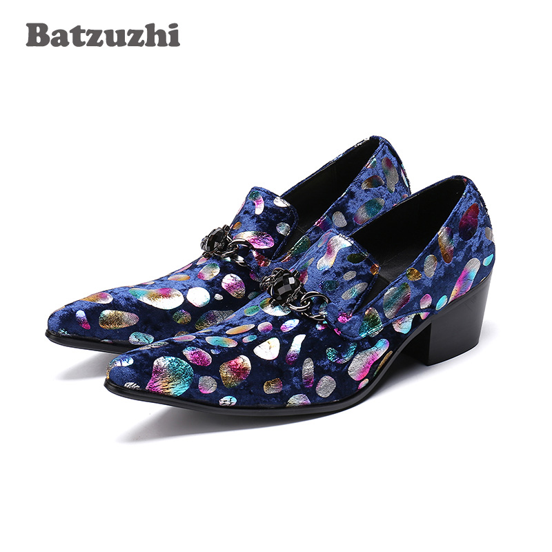 Batzuzhi Brand Luxury Mens Shoes 6.5cm High Heel Men Leather Shoes Pointed Toe Handmade Party and Wedding Men Shoes, Big US12Batzuzhi Brand Luxury Mens Shoes 6.5cm High Heel Men Leather Shoes Pointed Toe Handmade Party and Wedding Men Shoes, Big US12