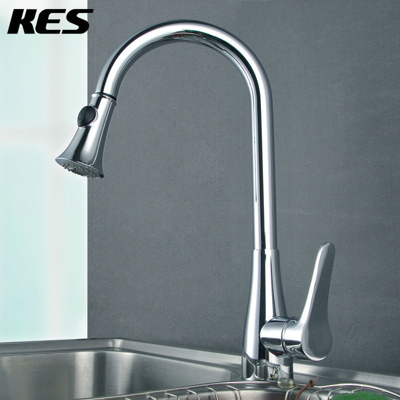 Fancy Single Handle Pullout Kitchen Faucet Image - Home Design Ideas ...