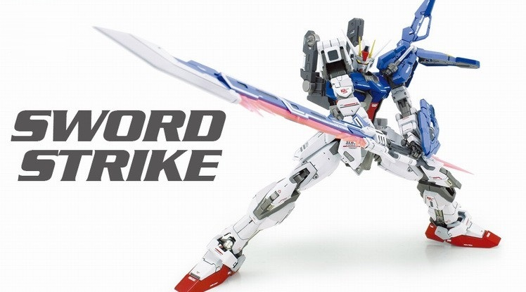MG assembly model 1:100 Strike Gundam sword techmarine Custom action figure robots anime Assembled The yearning in the world 1 100 age 2 normal mg up to the basic type of assembly model for assembly model