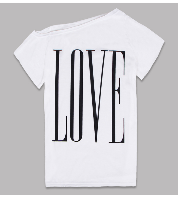 summer style tshirt New Womens Sexy Casual  One Shoulder Short sleeve poleras de mujer camiseta roupa feminina Tops T Shirt