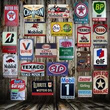 [ Mike86 ] TEXACO Mobil STP Castrol Motor oil Tin Sign Metal Plaque Poster Custom Painting Garage Classic Decor Art LT-1689