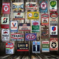 [Mike86] TEXACO Mobil STP Castrol huile moteur étain signe Plaque métal affiche peinture personnalisée Garage classique décor Art LT-1689