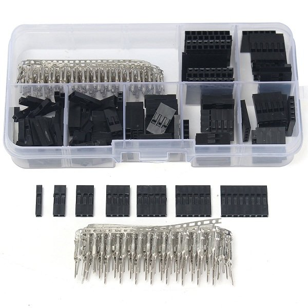 310Pcs 2.54mm Male+Female Dupont Wire Jumper And Header Connector Housing Kit Best Price New Electric Unit Electronics Stocks