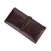 Gentle Man Wallets Genuine Leather Fashion Long High Capacity Male Purse Dollar Wallet Credit Card Organizer Case Money Bag