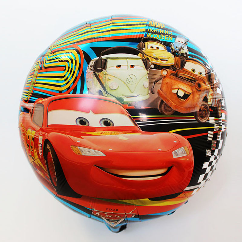 Various models 50pcs/lot 18inch Happy Birthday balloons Cars story ballon for boys Party globos Supplies McQueen foil balloons