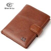 100 Genuine Leather Passport Wallet Men Travel Wallets Holder Man Card Large Wallets Money Pocket