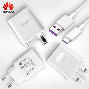 Original Huawei SuperCharge Travel Quick Fast Charger QC 3.0 5A USB Type C Cable HUAWEI P10 Plus P20 MATE 9 10 20 Pro Adapter